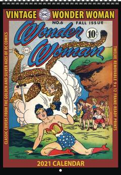 VINTAGE DC COMICS WONDER WOMAN 2021 WALL CALENDAR