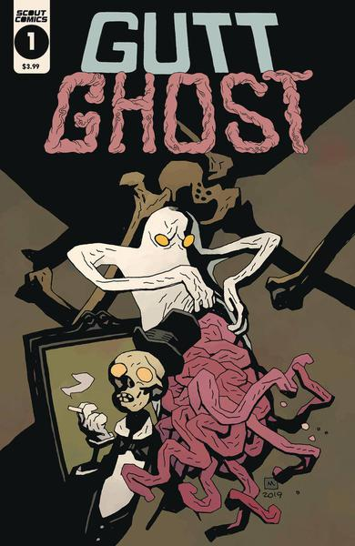 GUTT GHOST TROUBLE W/ SAWBUCK SKELETON SOCIETY