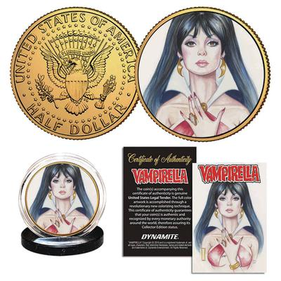VAMPIRELLA GOLIGHTLY CROWDFUNDER EXC GOLD COIN