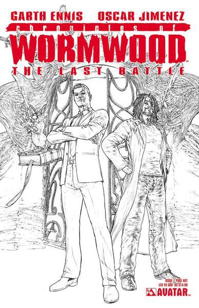 CHRONICLES OF WORMWOOD LAST BATTLE #1 PURE ART VAR