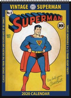 VINTAGE DC COMICS SUPERMAN 2020 WALL CALENDAR