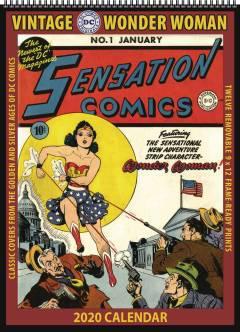 VINTAGE DC COMICS WONDER WOMAN 2020 WALL CALENDAR