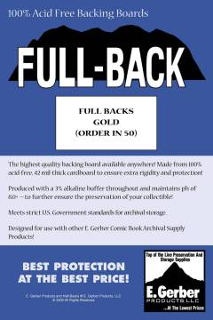 BACKING BOARDS FULL BACKS GOLD
