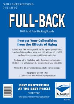 BACKING BOARDS FULL BACKS SILVER GOLD