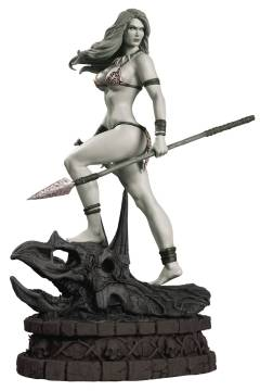 WOMEN DYNAMITE JUNGLE GIRL STATUE B&W ED PROOF