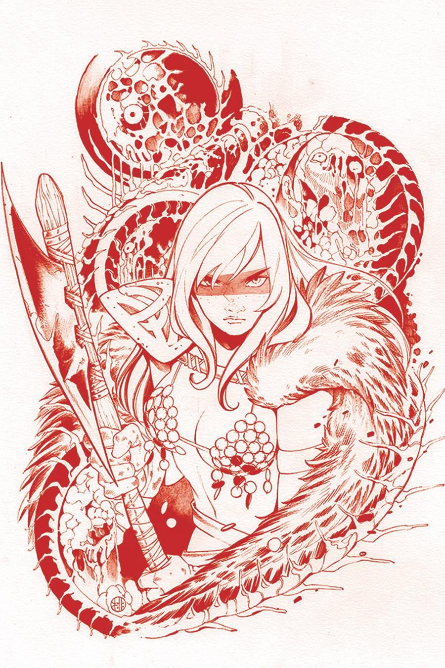 DIE!NAMITE MOMOKO SONJA FIREY RED LINE ART VIRGIN CVR