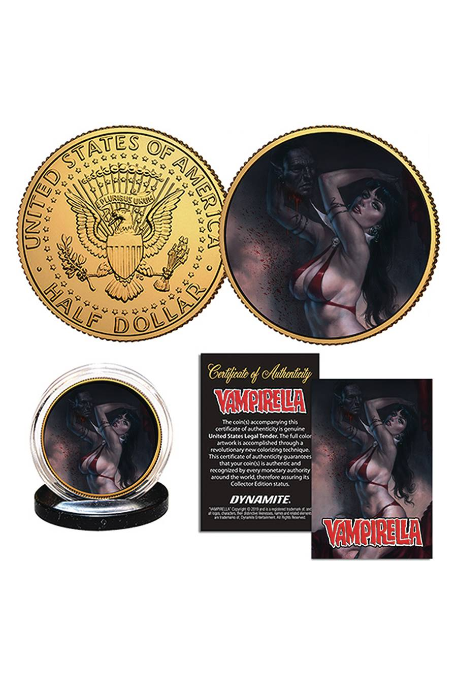 VAMPIRELLA PARRILLO GOLD COLL COIN