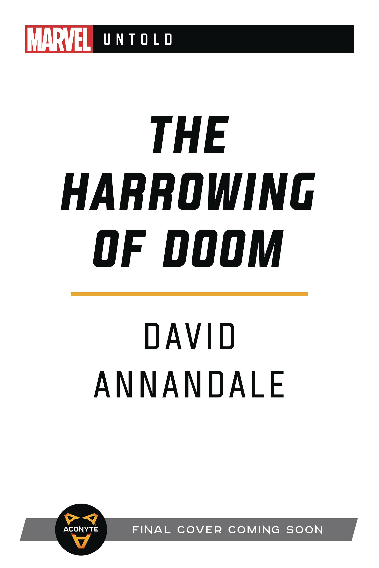 MARVEL UNTOLD NOVEL SC HARROWING OF DOOM