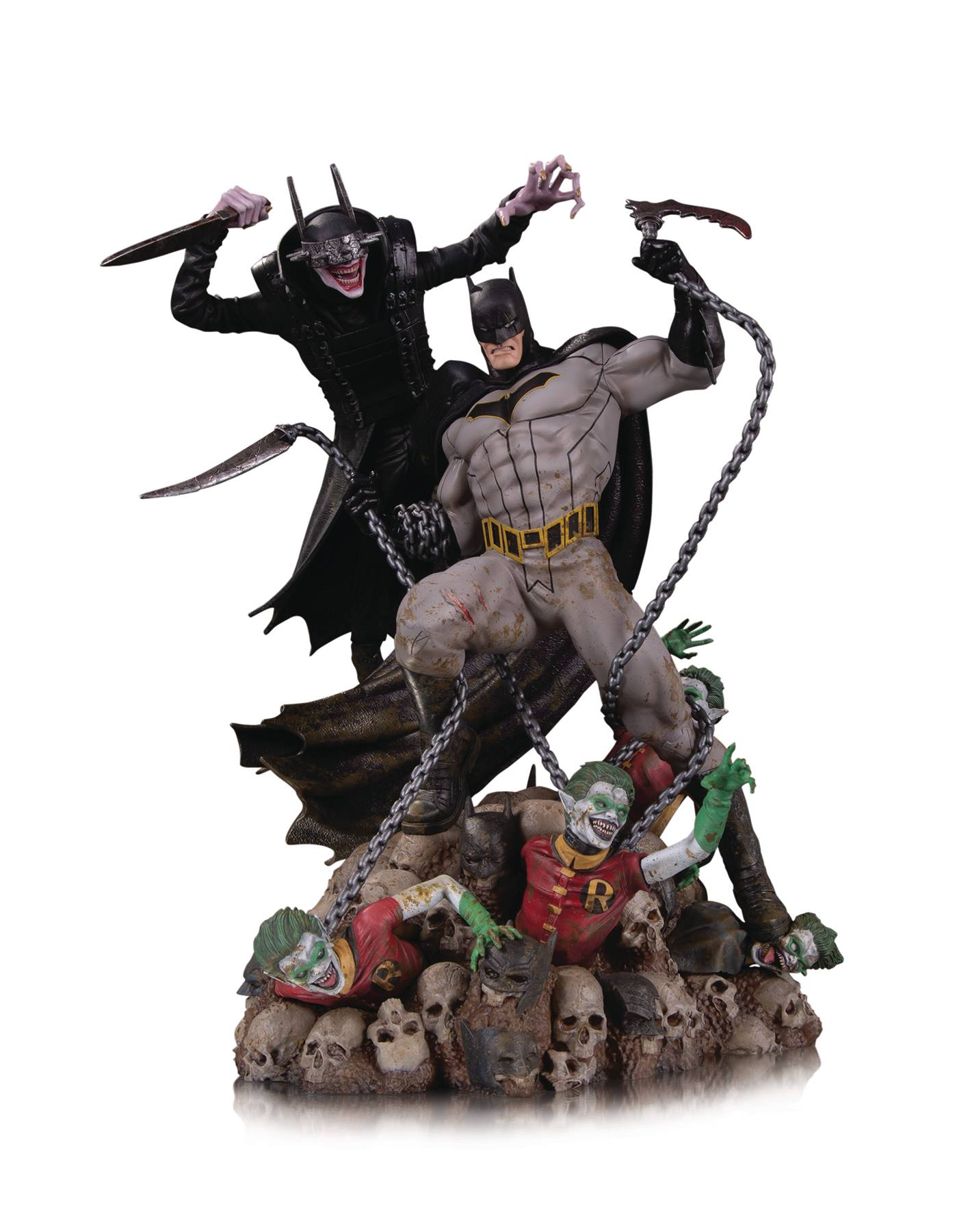 BATMAN WHO LAUGHS VS BATMAN BATTLE STATUE