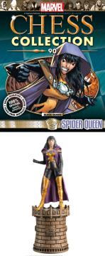 MARVEL CHESS FIG COLL MAG #90 SPIDER-QUEEN BLACK QUEEN