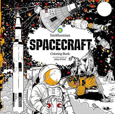 SPACECRAFT SMITHSONIAN COLORING BOOK TP
