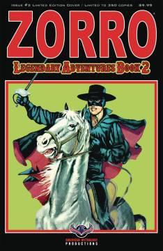ZORRO LEGENDARY ADVENTURES BOOK 2 BLAZING BLADES LTD ED CVR