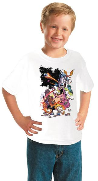 FCBD 2021 COMM ARTIST YOUNG WHITE YOUTH T/S LG