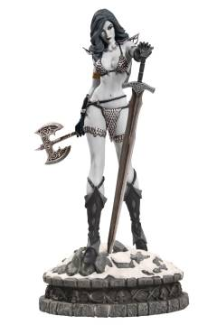 WOMEN DYNAMITE RED SONJA STATUE B&W DIAMOND EYE ED