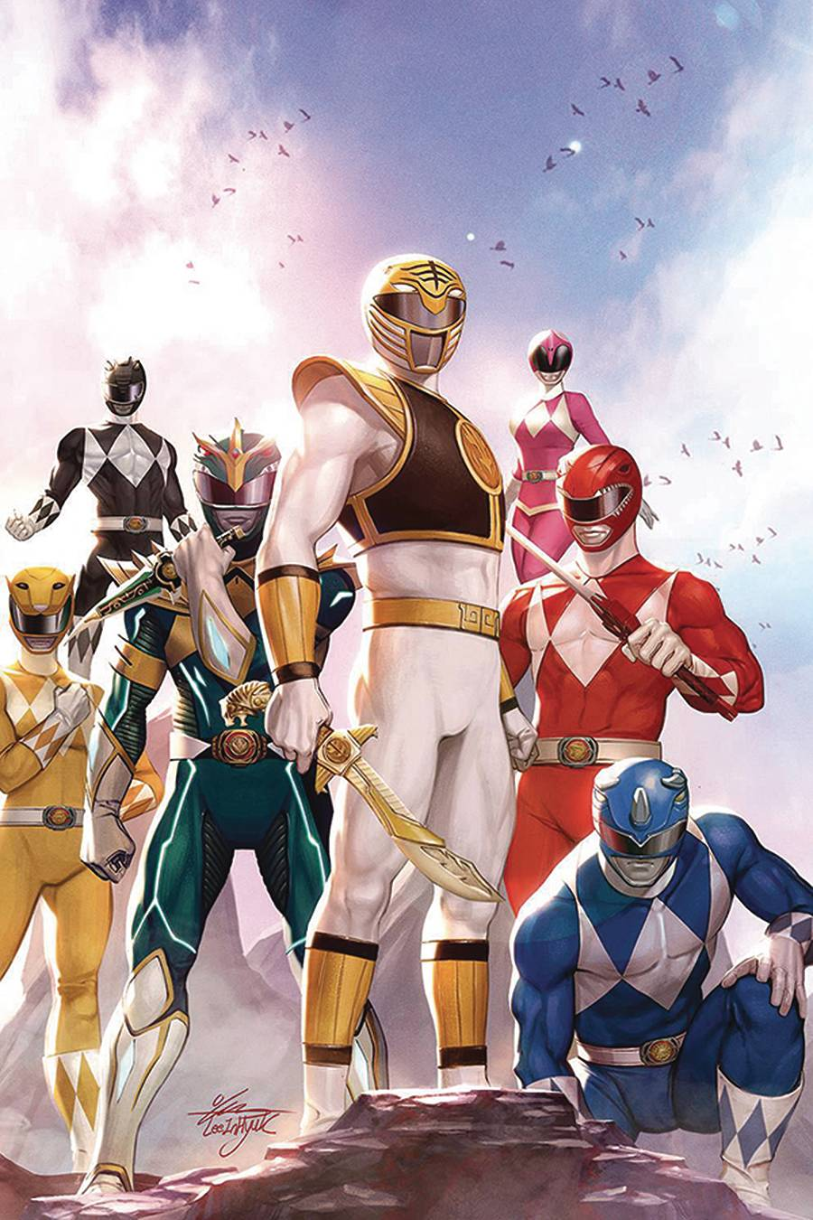 DF MIGHTY MORPHIN #1 PARROTT SGN