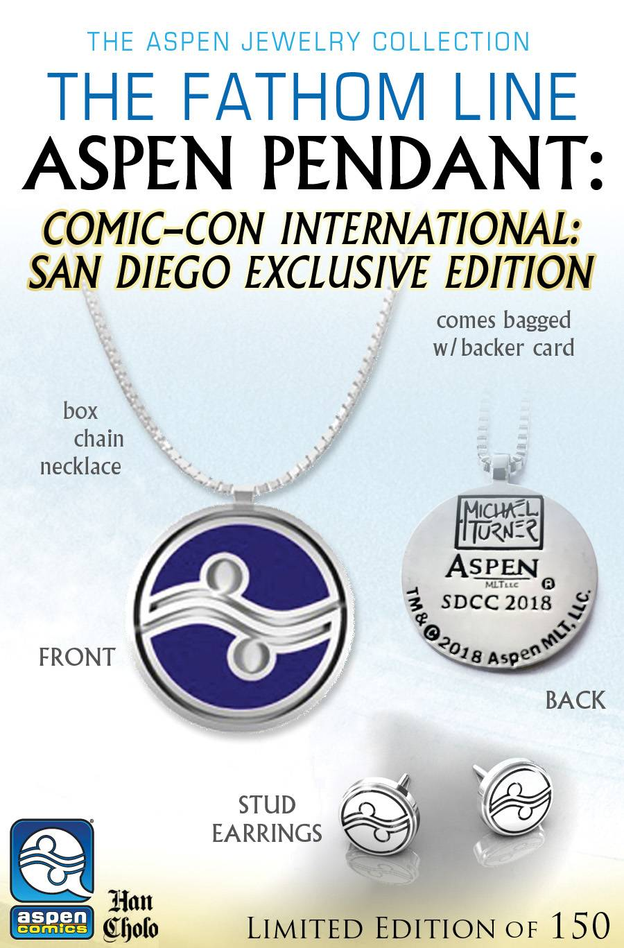 SDCC 2018 ASPEN PENDANT & EARRINGS SET