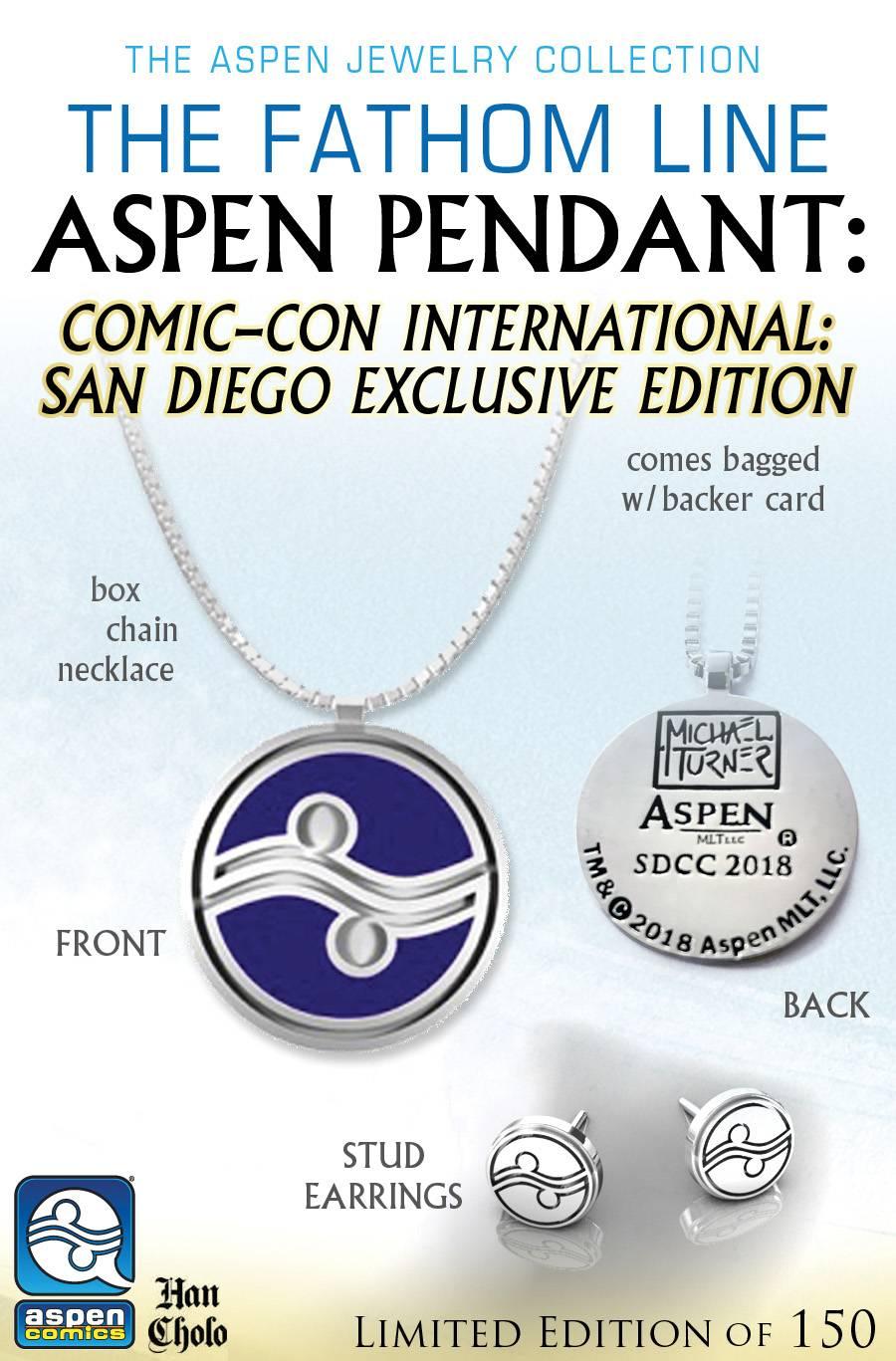SDCC 2018 ASPEN PENDANT & EARRINGS SET