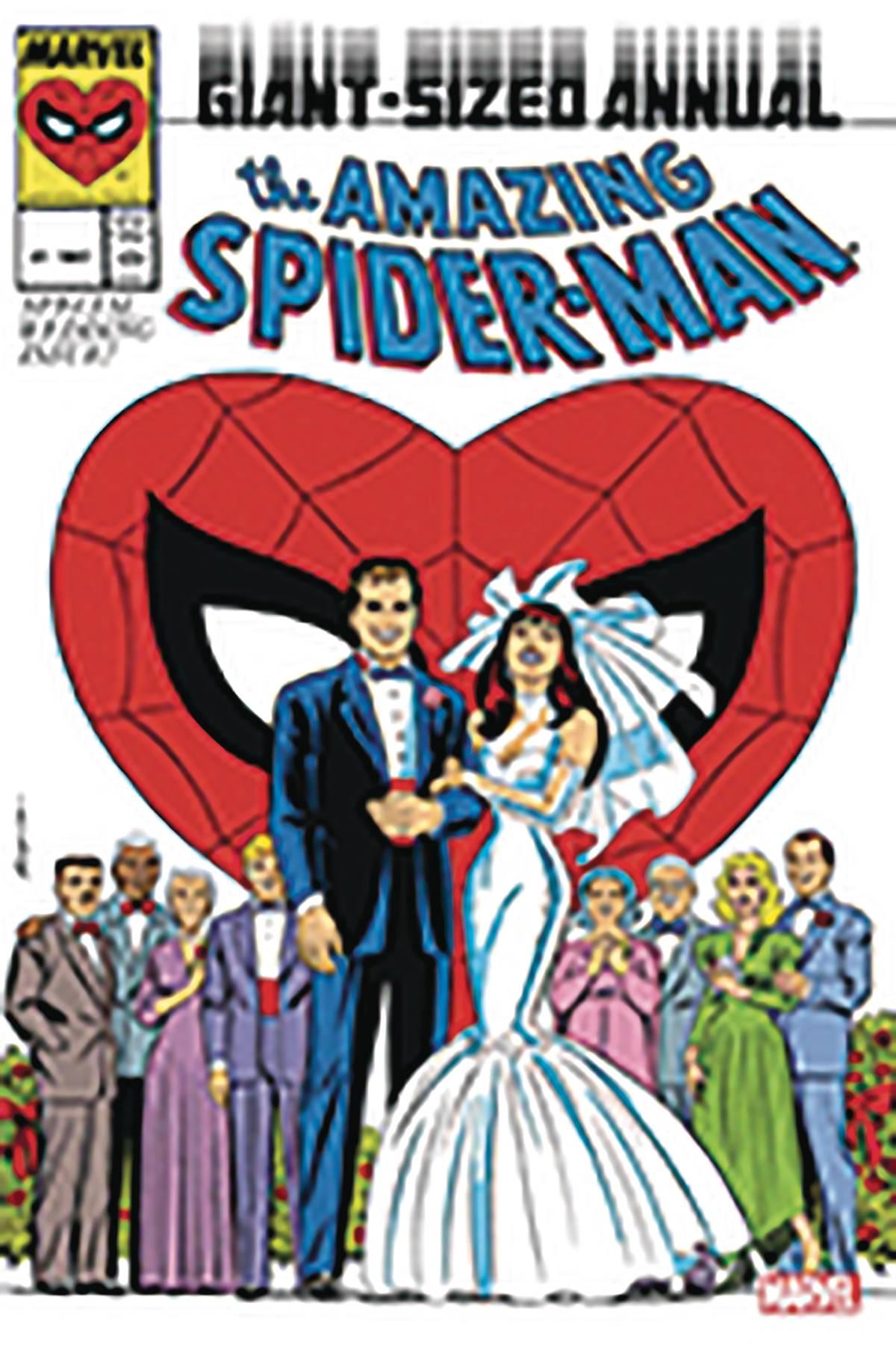 AMAZING SPIDER-MAN ANN #21 WEDDING FACSIMILE MICHELINE SGN