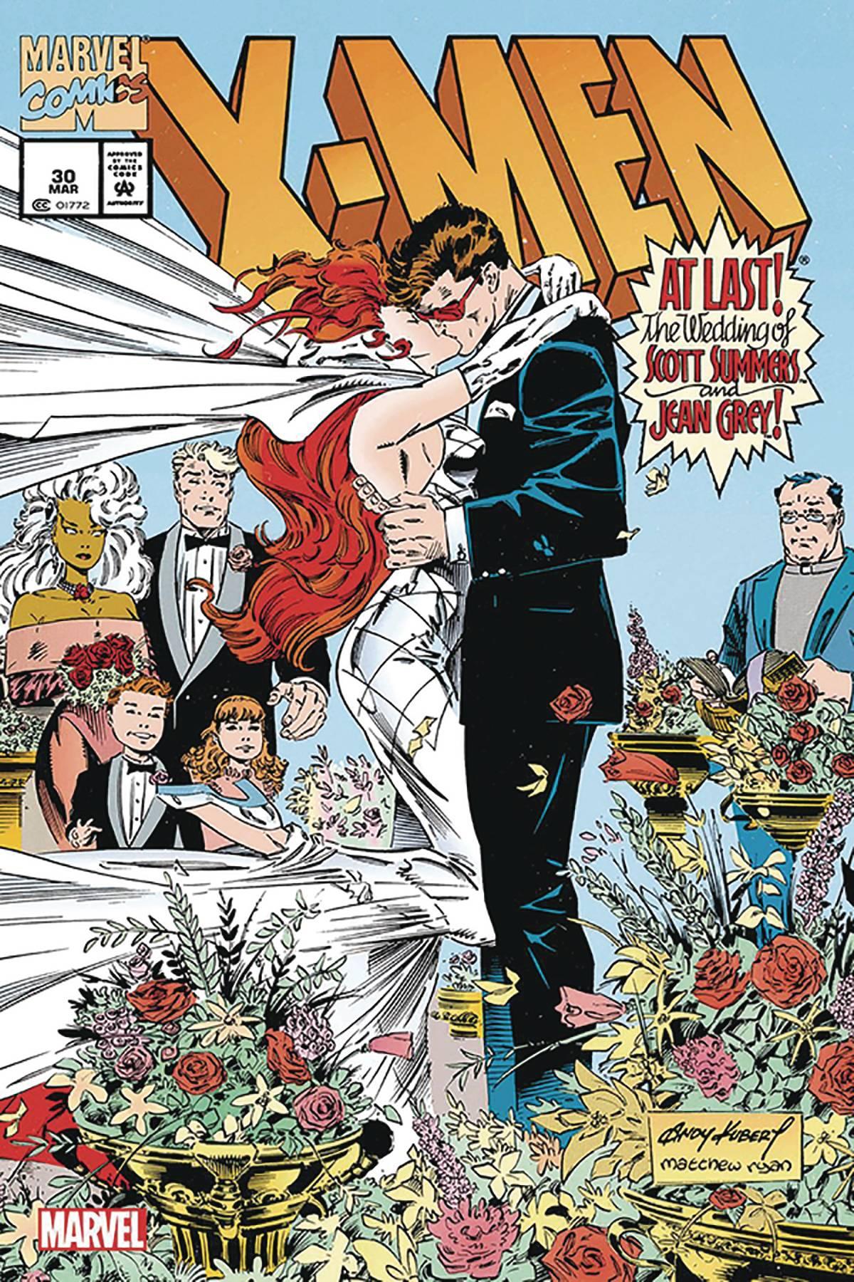 X-MEN #30 WEDDING FACSIMILE ED KUBERT SGN