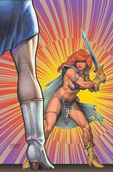RED SONJA THE SUPERPOWERS LINSNER LTD VIRGIN CVR