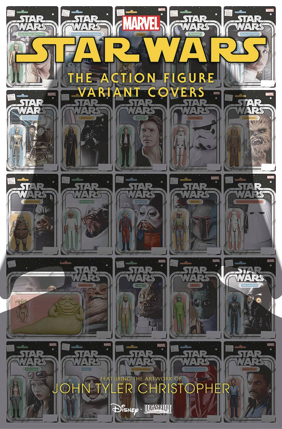 STAR WARS ACTION FIGURE VARIANT COVERS