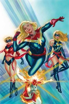 CAPTAIN MARVEL #1 BY ALEX ROSS POSTER