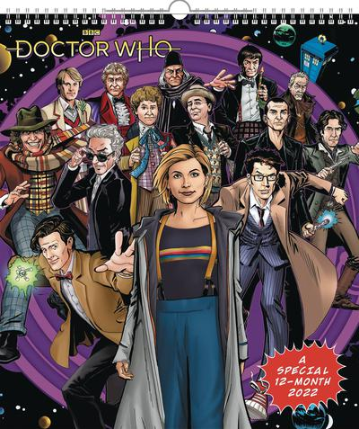 DOCTOR WHO SPECIAL ED 2022 WALL CALENDAR