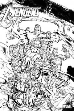 AVENGERS COLORING POSTER