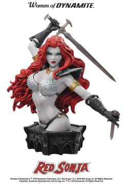 WOMEN DYNAMITE RED SONJA ARTHUR ADAMS BUST B&W